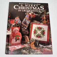 A Merry Christmas in Cross Stitch Pattern Book Better Homes and Gardens 1994