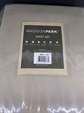 Madison Park 100% Cotton Sheet Set. Microcell Queen Khaki. New In Package.