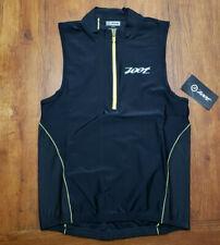 NEW Zoot Mens M Tri Tank Performance Top Black Compression Triathlon Shirt