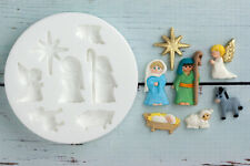 Silicone Mould Christmas Nativity Set  Food safe Ellam Sugarcraft  M074