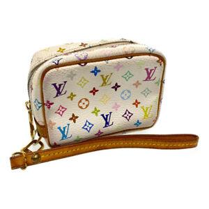 LOUIS VUITTON Multicolor Trousse Wapity Pouch Bag White M58033 LV Auth rd771