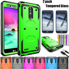 For LG Stylo 2 Plus 3 Case Shockproof Hybrid Rugged Armor Cover Screen Protector
