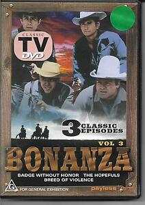 BONANZA Vol 3: Badge Without Honor, The Hopefuls, Breed Of Violence DVD NEW
