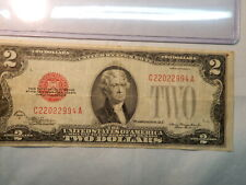 1928 D $2 Dollar US Note  C 220022994 A  with Plastic holder