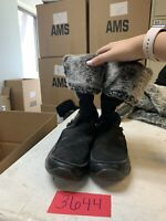 The North Face Size 9.5 Suede Leather Lace Up Faux Fur Black Boots Primaloft 200