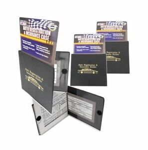 5 PACK Auto Car  Registration Insurance Document Holder Wallet Case Id Card