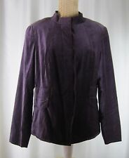 Coldwater Creek Purple Velvet Jacket Coat Blazer LS Jacket Size 10 Medium