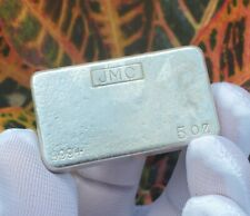 Vintage JMC Johnson Matthey Canada - 5oz .999 Silver Hand Poured Bar *Altered*