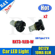 3pcs t3 led car light White wedge 1 led 12V DC Dashboard Interior Light Bulbs