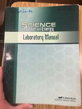 Science Matter And Energy Laboratory Manual Workbook A Beka Science Health