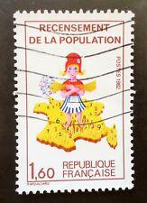 Très Rare Variété timbre oblitéré n° 2202b couleur verte manquante Cote 345€