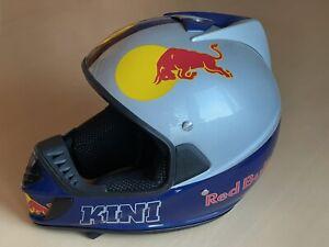 KINI Red Bull Motocross Enduro Offroad Helm Blau-Silber