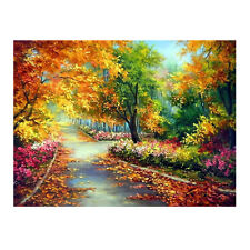 5D Diamond DIY Autumn Scenery Embroidery Painting Cross Stitch Home Decor Craft