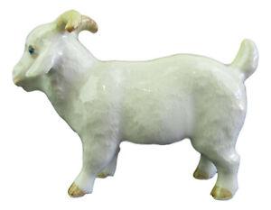 Miniature Porcelain Angora Goat Figurine Approx 4cm HIgh