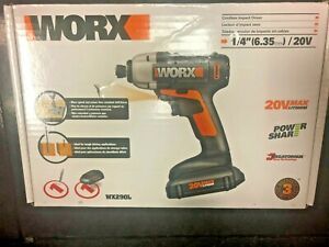 "WORX WX290L 20V MaxLithium Cordless 1/4"" Impact Driver WITH Battery and Charger"
