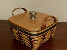 Longaberger 2004 All American Small Basket Wooden Lid - Flag Liner - Protector