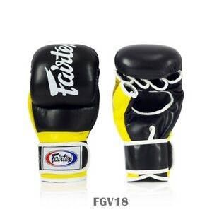 Fairtex Supper Sparring Grappling Gloves FGV18 Blac-Yellow Sparring MMA K1