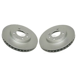 For VW Cabrio Golf Jetta Passat Pair Set of Two Front Brake Disc Rotors Ate