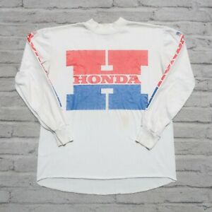 Vintage 80s Honda Motocross Racing Jersey Made in USA ATC Motorcycle