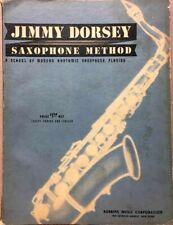 Jimmy Dorsey Saxophone Method~Vintage 1940 Music Instruction~1st Ed.~Big Band