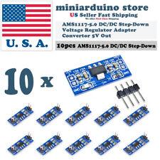 10pcs AMS1117-5.0 5.0V Step-Down Linear Voltage Regulator Module 6-12V in 5V out