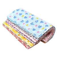 50x DIY Quilting Crafts 10x10cm Squares Fabric Bundle Patchwork Clothing Se J3S2