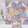 "Colored mandala flower Shower Curtain Fresh and Simple Bath Fabric 71"""