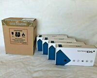 Nintendo DSi Matte Blue Handheld System 4 Units FACTORY SEALED in FACTORY BOX