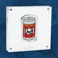 Tuvalu - Die Simpsons™ - Duff Beer - 1 $ 2019 PP / Polierte Platte - Silber - T