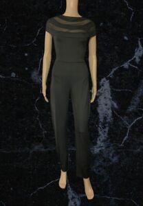 BNWT Edge Black Mesh Detail Jumpsuit Size 10