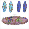 Craft Making 43mm Lampwork Handmade Flower Loose Spacer Glass Beads Jewelry New