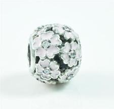 Authentic Genuine Pandora Silver Primrose Meadow Pink Enamel Charm - 791488EN68