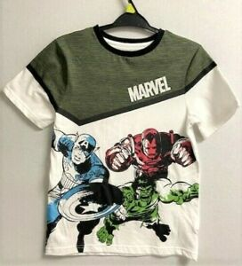 NEW KIDS MARVEL TOP T SHIRT IRON MAN HULK CAPTAIN AMERICA IRON MAN 3Y TO 10Y