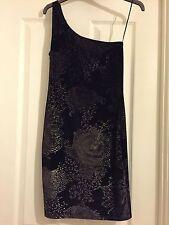 BNWT Jane Norman Black Gold Snakeskin Rose Velvet Party Race Dress Sz 10 RRP £35