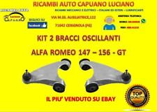 KIT 2 BRACCI OSCILLANTI TRAPEZI SUPERIORI RINFORZATI ALFA ROMEO 147 156 GT