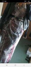 topshop snake print dress size 10