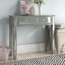 Georg Boorman Silver Mirrored Glass 2 Drawer Console Hall Dressing Table