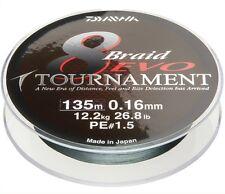 Daiwa Tournament 8 Braid EVO - 100m geflochtene Schnur - dunkelgrün