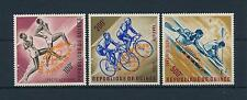 [61073] Guinea 1964 Orange overprint Olympic games Cycling Canoeing MNH
