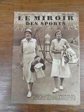 LE MIROIR DES SPORTS No 709 30 Mai 1933 : TENNIS WOMEN Miss RYAN & MATHIEU