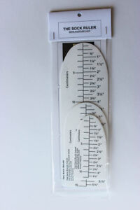 The Sock Ruler ® - Innovative Measuring Tool