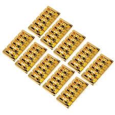 10pcs Gold Plated 5 String Bass Guitar Bridge Square Saddle Bridge Spacing 19mm