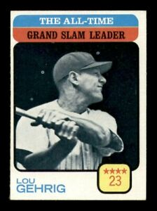 1973 Topps Set Break # 472 Lou Gehrig Grand Slam Leader NM-MINT *OBGcards*