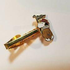Vintage Snoopy Tie Tack Golf Pin Clip 70s Aviva Golf Flag Bucket Hat Gold Tone