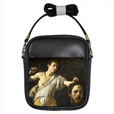 David with The Head of Goliath Caravaggio Leather Sling & Women's Handbag - Art