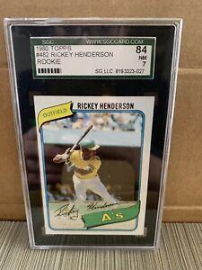1980 Topps Baseball Set - Includes Rickey Henderson Rookie #482 PSA 7