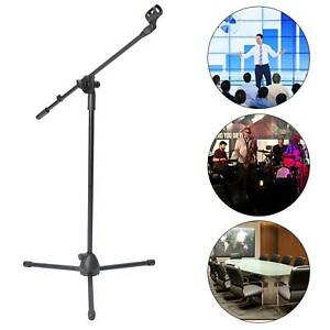 NEW PROFESSIONAL BOOM MICROPHONE MIC STAND HOLDER ADJUSTABLE WITH FREE CLIPS