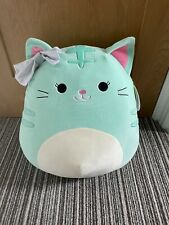 Squishmallows 16 inch Tres'zure the Cat with Bow Soft Toy