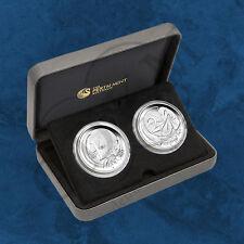 Australien - Australian Decimal Anniversary - 1 + 2 Cents 2016 PP 2 Unzen Silber