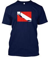 Spearfishing Freediver Dive Flag Hanes Tagless Tee T-Shirt